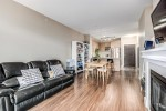 living-room at #407 - 1150 Kensal Place, New Horizons, Coquitlam
